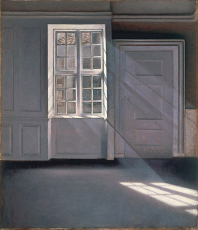 Vilhelm Hammershøi, Sunbeams or Sunshine. Dust Motes Dancing in the Sunbeams.